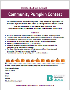 2018 Pumpkin Contest BCPL Hereford