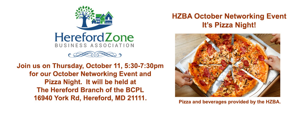 HZBA Pizza Night and October Networking Event