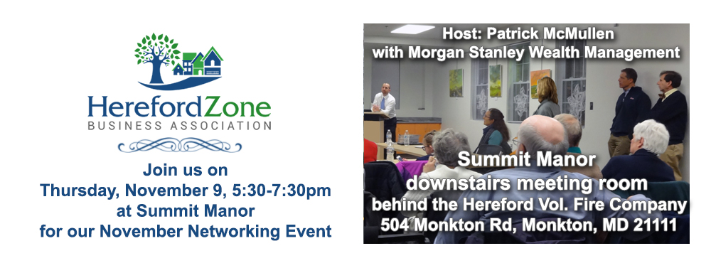HZBA Networking Event Nov 9, 2017 hosted by Patrick McMullen with Morgan Stanley Wealth Mgmt